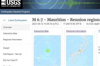 Screenshot of USGS website/Courtesy USGS