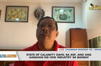 Agri group SINAG thanks Pres. Duterte for declaring State of Calamity nationwide due to ASF
