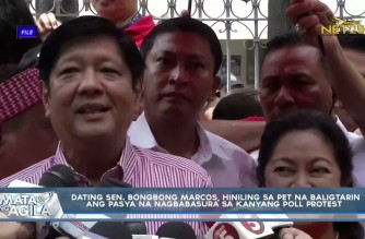 Marcos Jr. asks tribunal to reverse earlier ruling junking poll protest case vs Robredo