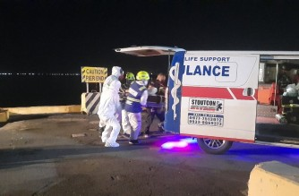 he two COVID-19-positive crew members of the ship that was allowed to dock in Manila from India are in critical condition. They were evacuated from the vessel to a medical facility, MARINA said./MARINA/