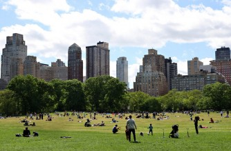 NEW YORK, NEW YORK - MAY 31: People fill Sheep Meadow in Central Park on May 31, 2021 in New York City. On May 19, coronavirus pandemic restrictions were lifted making Memorial Day the first holiday weekend without any restrictions in over 15 months.   Cindy Ord/Getty Images/AFP (Photo by Cindy Ord / GETTY IMAGES NORTH AMERICA / Getty Images via AFP)