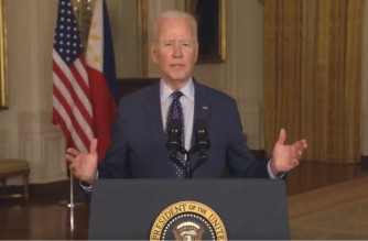 Screenshot of video message of US President Joe Biden during his greetings to the Philippines on its 123rd Independence Day (Courtesy US State Department twitter page)