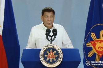 """President Rodrigo Duterte tells Filipinos to be inspired by country's heroes and """"be heroes in our own right"""" in his message during the 123rd Philippine Independence Day on June 12, 2021, (Screenshot of RTVM video)"""