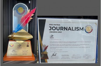 """Eagle Broadcasting Corporation received the prestigious """"Pro Patria Journalism Award 2021 from the Rotary Club of Manila on Thursday, June 17, 2021 (Eagle News Service)"""