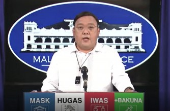 Presidential Spokesperson Harry Roque during his Palace briefing on Thursday, July 24, 2021.   (Courtesy PCOO/Screenshot of PCOO/RTVM video)