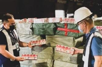 Customs bureau: P38.1 million worth of smuggled cigarettes seized in Manila port