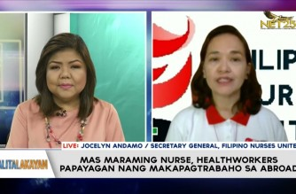 Interview with Filipino Nurses United on increase on deployment cap on PH nurses who want to work abroad