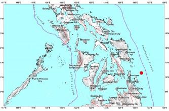 4.5-magnitude quake strikes off Surigao del Norte