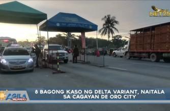 8 new Delta variant cases found in Cagayan de Oro City