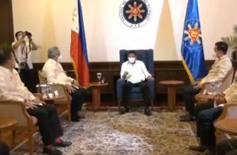 President Rodrigo Duterte now in Batasang Pambansa for his last State of the Nation Address (SONA) on July 26, 2021.  (Courtesy RTVM)