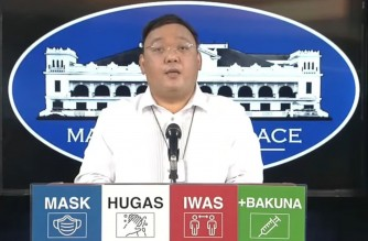 Presidential Spokesperson Harry Roque holds a press briefing on Thursday, July 29, 2021 (Screenshot of PCOO video)