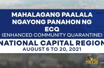 INFOGRAPHICS: Important reminders this ECQ (Aug. 6 to 20) for Metro Manila