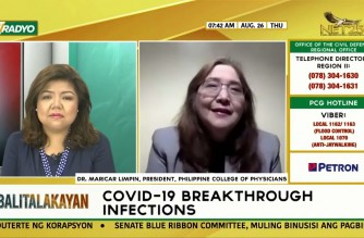 WATCH: Interview with Dr. Maricar Limpin, president of PHL College of Phyicians, on breakthrough infections