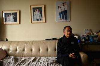 This photo taken on August 28, 2021 shows Chen Shaohua, who suffers from Alzheimer's, during an interview at his daughter's residence in Beijing.  † - Approximately 10 million people have been diagnosed with the degenerative -- and incurable -- brain disorder in the country, which accounts for approximately a quarter of the world's cases. (Photo by NOEL CELIS / AFP) / TO GO WITH AFP STORY CHINA-HEALTH-ALZHEIMER'S,FEATURE
