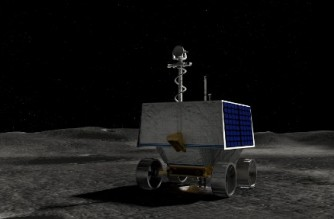 """This handout illustration courtesy of NASA shows NASA's Volatiles Investigating Polar Exploration Rover (VIPER) on the surface of the Moon. - NASA on September 20, 2021, announced it would land an ice-seeking rover on a region of the Moon's South Pole called the Nobile Crater in 2023. The space agency hopes the robot will confirm the presence of water ice just below the surface, which could one day be converted into rocket fuel for missions to Mars and deeper into the cosmos. (Photo by - / NASA / AFP) / RESTRICTED TO EDITORIAL USE - MANDATORY CREDIT """"AFP PHOTO / NASA / Daniel Rutter"""" - NO MARKETING - NO ADVERTISING CAMPAIGNS - DISTRIBUTED AS A SERVICE TO CLIENTS"""