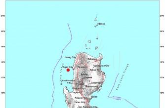 4.0-magnitude quake strikes off Ilocos Sur