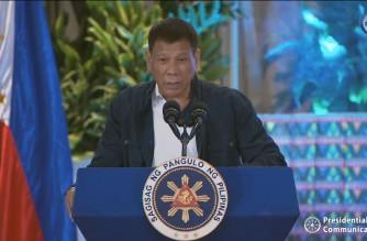 President Rodrigo Duterte making his speech during the PDP-Laban's National Convention in San Fernando City in Pampanga on Wednesday, Sept. 8, 2021 (Screenshot of RTVM video)