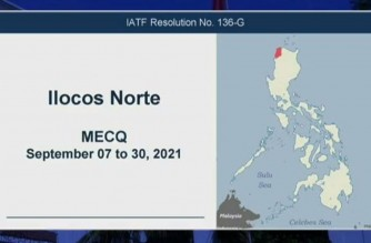 Ilocos Norte under MECQ from Sept. 7 to 30, Palace clarifies