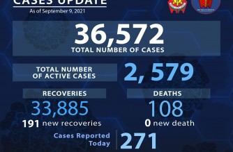 PNP reports 271 more COVID-19 cases