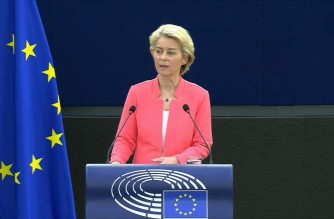 The EU is to donate another 200 million Covid-19 vaccine doses to low-income countries, more than doubling its present pledge, the bloc's chief Ursula von der Leyen announces.