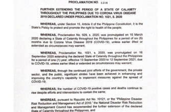 President Duterte extends COVID-19 state of calamity in PHL for another year
