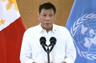 """In UN General Assembly message, President Duterte assails talk of COVID-19 booster shots in rich countries while poor countries """"wait for trickles"""""""