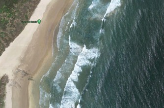 Emerald Beach as seen in the satellite view of Google maps/Courtesy Google maps