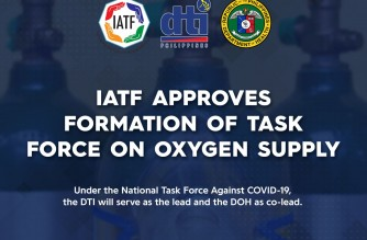 IATF approves creation of task force on oxygen supply