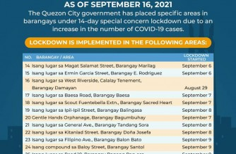 QC gov't places 53 areas under special concern lockdown due to increase in COVID-19 cases