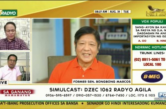 "WATCH:  Full interview of Sa Ganang Mamayan with ex-Sen. Ferdinand ""Bongbong"" Marcos Jr"
