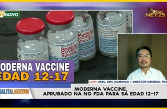 WATCH: Interview with FDA director Usec Eric Domingo on EUA amendment for Moderna for 12 to 17 years old