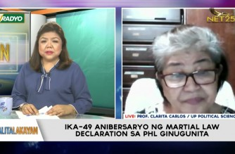 Watch: Interview with political analyst Prof. Clarita Carlos on putting Marcos martial law years in perspective