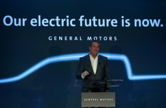 Mark Reuss, General Motors president speaks at their Detroit- Hamtramck assembly plant on January 27, 2020 in Detroit, Michigan. - GM announced a $2.2 billion USD investment at its Detroit- Hamtramck assembly plant to produce a variety of all-electric trucks and SUVs. GM's first all-electric truck will be a pickup with production scheduled to begin in late 2021. Detroit-Hamtramck will be GM's first fully-dedicated electric vehicle assembly plant. (Photo by JEFF KOWALSKY / AFP)