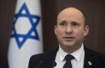 Israeli Prime Minister Naftali Bennett attends the weekly cabinet meeting in Jerusalem on October 17, 2021. (Photo by Sebastian Scheiner / POOL / AFP)