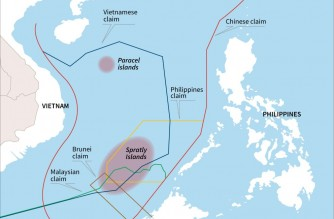 Map showing disputed claims in the South China Sea (Courtesy Agence France Presse)