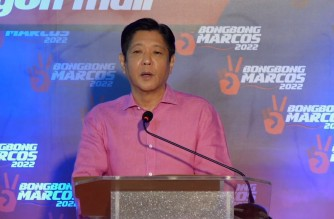 """Former Senator Ferdinand """"Bongbong"""" Marcos Jr., announces his bid for the presidency in the 2022 polls on Tuesday, Oct. 5, 2021 in a Facebook Live video in his official facebook page.  (Screenshot of official FB page of Bongbong Marcos)"""