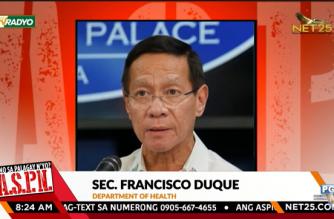 "Health Secretary Francisco Duque III during an interview over the NET25-Radyo Agila program ""ASPN"" on Oct. 21, 2021. (Courtesy NET25)"