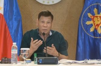 "President Rodrigo Duterte speaking during his Oct. 4, 2021 ""Talk to the People"" (Screenshot of PCOO video/RTVM)"