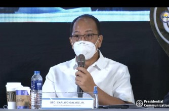 Vaccine czar Secretary Carito Galvez Jr., speaking during the Oct. 4 briefing on COVID-19 vaccines.  (Screenhot of PCOO/RTVM video/ courtesy PCOO/RTVM)