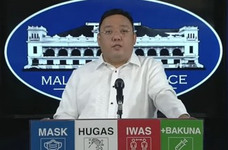 Presidential Spokesperson Harry Roque during the Malacanang press briefing on Monday, Oct. 11, 2021.
