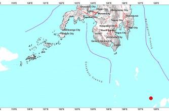 4.4-magnitude quake strikes off Davao Occidental