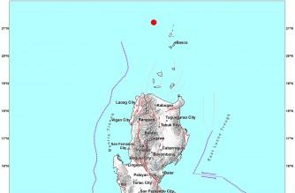 4.5-magnitude quake strikes off Batanes